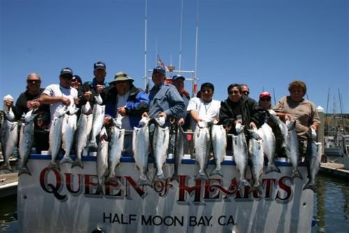 Queen of hearts sportfishing fishing report pillar point for Half moon bay pier fishing